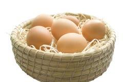 Αυγά σε ένα καλάθι Στοκ φωτογραφία με δικαίωμα ελεύθερης χρήσης