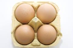 Αυγά σε ένα κιβώτιο Στοκ Εικόνες