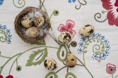 Αυγά σε μια φωλιά Στοκ εικόνες με δικαίωμα ελεύθερης χρήσης