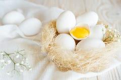 Αυγά σε μια φωλιά Στοκ εικόνα με δικαίωμα ελεύθερης χρήσης