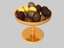 αυγά σοκολάτας κύπελλ&omega Στοκ Φωτογραφία