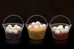 Αυγά στα καλάθια Στοκ φωτογραφία με δικαίωμα ελεύθερης χρήσης