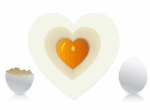 Αυγά στη μορφή καρδιών Στοκ Φωτογραφία