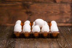 Αυγά στο δίσκο Στοκ Εικόνα