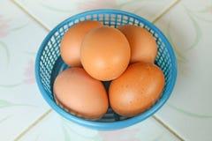 Αυγά στο καλάθι Στοκ Φωτογραφίες