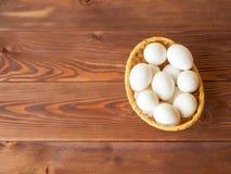 Αυγά στο καλάθι Στοκ εικόνες με δικαίωμα ελεύθερης χρήσης