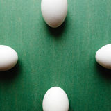 αυγά τέσσερα λευκό Στοκ Εικόνες