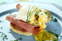 αυγά του Benedict Στοκ Φωτογραφία