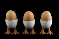 αυγά τρία πουλιών Στοκ εικόνες με δικαίωμα ελεύθερης χρήσης