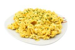 αυγά φρέσκων κρεμμυδιών που ανακατώνονται στοκ εικόνες με δικαίωμα ελεύθερης χρήσης