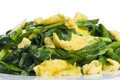 αυγά φρέσκων κρεμμυδιών π&omicro στοκ φωτογραφίες