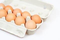 αυγά χαρτοκιβωτίων κιβωτίων φρέσκα Στοκ εικόνα με δικαίωμα ελεύθερης χρήσης