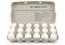αυγά χαρτοκιβωτίων μεγάλ& Στοκ Εικόνες