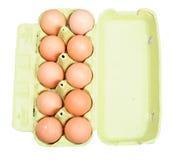 αυγά χαρτοκιβωτίων που απομονώνονται Στοκ Φωτογραφία
