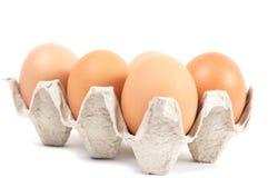 αυγά χαρτονιού κιβωτίων Στοκ Φωτογραφίες
