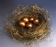 αυγά χρυσά Στοκ Εικόνα