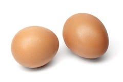 Αυγά Chiken που απομονώνονται στο άσπρο υπόβαθρο Στοκ εικόνα με δικαίωμα ελεύθερης χρήσης