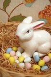 Αυγά Easters με το λαγουδάκι Στοκ Φωτογραφίες