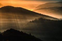 Αυγή βουνών Θερβάντες Στοκ Εικόνες