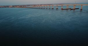Αυγή γεφυρών αβ flyby απόθεμα βίντεο