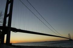 αυγή γεφυρών humber Στοκ φωτογραφίες με δικαίωμα ελεύθερης χρήσης