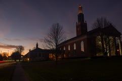 αυγή εκκλησιών στοκ εικόνες