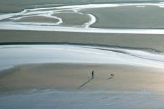 αυγή κόλπων ο Michel του mont Άγιος Στοκ φωτογραφίες με δικαίωμα ελεύθερης χρήσης