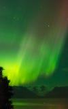 Αυγή πέρα από τον παγετώνα Grewingk στοκ φωτογραφία με δικαίωμα ελεύθερης χρήσης