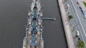 Αυγή ταχύπλοων σκαφών στον ποταμό Neu, η πόλη της Αγίας Πετρούπολης απόθεμα βίντεο