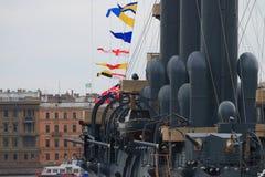 Αυγή ταχύπλοων σκαφών Πυροβόλα όπλα γεφυρών του αριστερού πίνακα Στοκ φωτογραφία με δικαίωμα ελεύθερης χρήσης
