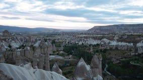 Αυγή της Τουρκίας Cappadocia timelapse στην κοιλάδα της αγάπης απόθεμα βίντεο