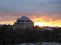 αυγή φλογερή Στοκ Φωτογραφίες