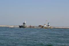 αυγή, ψάρια, αποβάθρα, Sottomarina, μπλε ουρανός, στοκ εικόνα με δικαίωμα ελεύθερης χρήσης