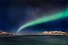 Αυγή Borealis - βόρεια Νορβηγία Στοκ εικόνες με δικαίωμα ελεύθερης χρήσης