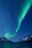 Αυγή Borealis (βόρεια φω'τα) που απεικονίζει στοκ εικόνα