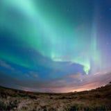 Αυγή Borealis (βόρεια φω'τα) Στοκ φωτογραφίες με δικαίωμα ελεύθερης χρήσης