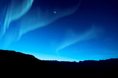 Αυγή Borealis, βόρεια φω'τα στοκ φωτογραφία