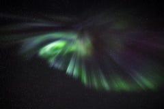 Αυγή Borealis πέρα από το Ρέικιαβικ Στοκ Εικόνες