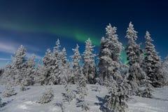 Αυγή Borealis στο Lapland Στοκ εικόνες με δικαίωμα ελεύθερης χρήσης