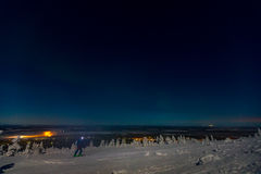 Αυγή Borealis στο Lapland Στοκ Φωτογραφία