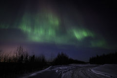 Αυγή Borealis Στοκ φωτογραφία με δικαίωμα ελεύθερης χρήσης