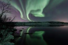 Αυγή Borealis στοκ φωτογραφίες με δικαίωμα ελεύθερης χρήσης