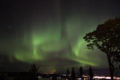 Αυγή Borealis Στοκ Φωτογραφία