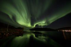 Αυγή Borealis Meloy Στοκ εικόνες με δικαίωμα ελεύθερης χρήσης