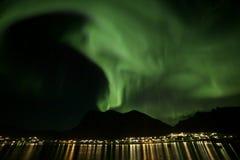Αυγή Borealis Neverdal Στοκ φωτογραφία με δικαίωμα ελεύθερης χρήσης