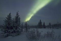 Αυγή Borealis, Raattama, 2014 02 21 - 02 Στοκ εικόνες με δικαίωμα ελεύθερης χρήσης