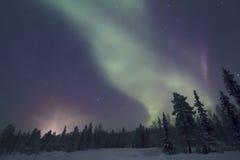 Αυγή Borealis, Raattama, 2014 02 21 - 04 Στοκ Φωτογραφίες