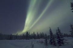 Αυγή Borealis, Raattama, 2014 02 21 - 16 Στοκ Φωτογραφίες