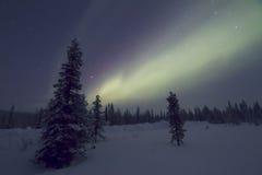 Αυγή Borealis, Raattama, 2014 02 21 - 20 Στοκ εικόνα με δικαίωμα ελεύθερης χρήσης