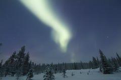 Αυγή Borealis, Raattama, 2014 02 21 - 27 Στοκ Φωτογραφίες